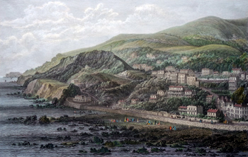 Antique print of Ventnor