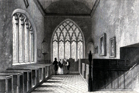ANTIQUE PRINT: CHAPEL OF ABBOTT'S HOSPITAL, GUILDFORD.