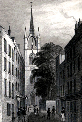 ANTIQUE PRINT: ST. DUNSTAN'S IN THE EAST.