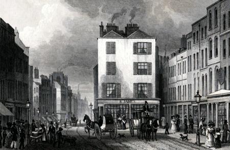 ANTIQUE PRINT: MIDDLE ROW HOLBORN.