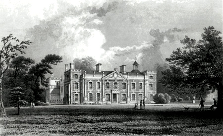 ANTIQUE PRINT: HILL-HALL, NEAR EPPING, THE SEAT OF SIR WM. SMYTH, ESSEX.