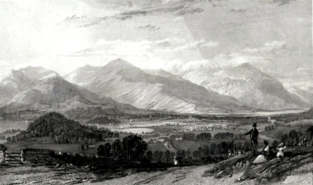 ANTIQUE PRINT: KESWICK, DERWENT, &C. FROM THE ROAD TO KENDAL.
