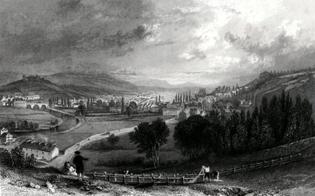 ANTIQUE PRINT: KENDAL, FROM GREEN BANK.