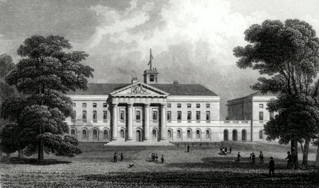 ANTIQUE PRINT: THE DUKE OF YORK'S SCHOOL, CHELSEA.