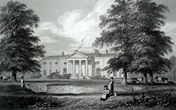 ANTIQUE PRINT: THE VICE-REGAL LODGE, PHOENIX PARK, NEAR DUBLIN. RESIDENCE OF THE LORD LIEUTENANT.