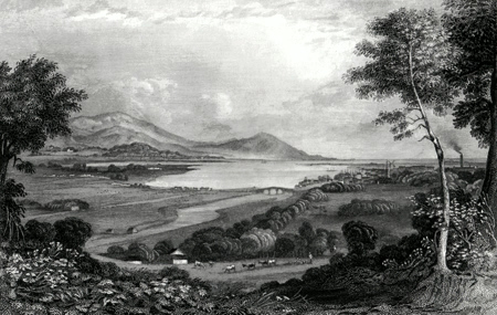 Antique print of Dundalk, County Louth