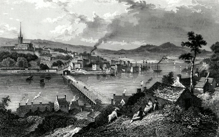 ANTIQUE PRINT: LONDONDERRY, IRELAND.