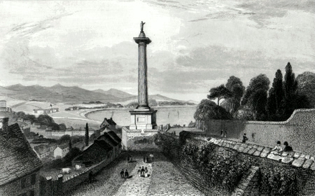 ANTIQUE PRINT: WALKER'S MONUMENT, LONDONDERRY.