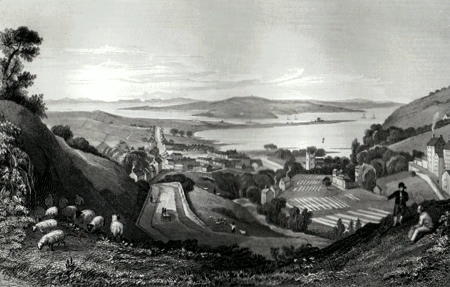 ANTIQUE PRINT: LARNE, CO. ANTRIM.