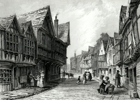 Antique print of Worcestershire