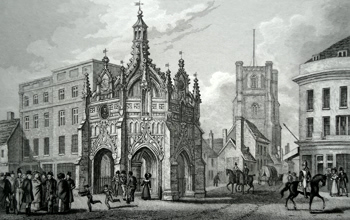 Antique print of Chichester, Sussex