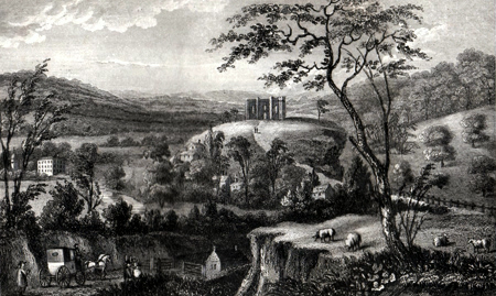 ANTIQUE PRINT: ST. CATHERINE'S CHAPEL. NEAR GUILDFORD, SURREY.