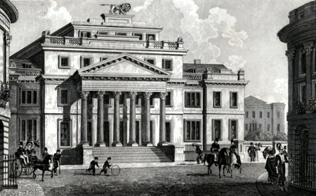 ANTIQUE PRINT: PORTLAND PLACE, BRIGHTON.