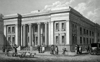 ANTIQUE PRINT: GENERAL LYING-IN HOSPITAL, YORK ROAD.