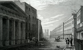 ANTIQUE PRINT: STAMFORD STREET.
