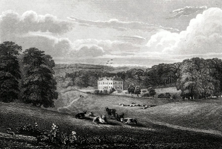 ANTIQUE PRINT: BAGGRAVE HALL, LEICESTERSHIRE.