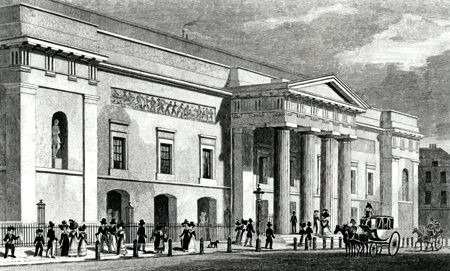 ANTIQUE PRINT: THEATRE ROYAL, COVENT GARDEN.