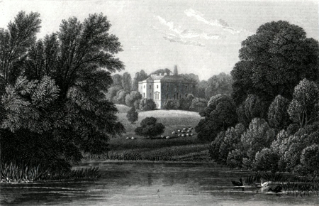 ANTIQUE PRINT: NUNEHAM COURTENAY, OXFORDSHIRE.
