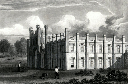 ANTIQUE PRINT: DONINGTON HALL, LEICESTERSHIRE.