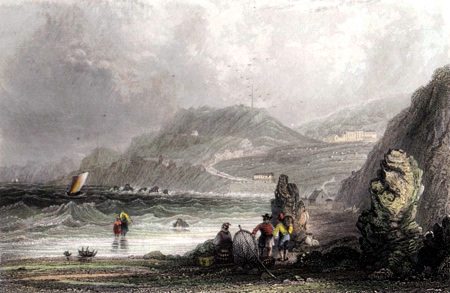 ANTIQUE PRINT: VENTNOR COVE.