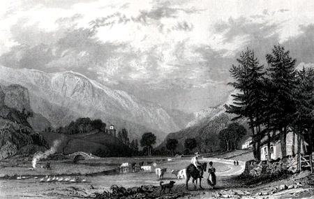 ANTIQUE PRINT: MARDALE GREEN, WESTMORLAND.