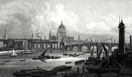 ANTIQUE PRINT: LONDON. RESPECTFULLY INSCRIBED TO THE RIGHT HONB.LE THE LORD MAYOR, COURT OF ALDERMEN, & COMMON COUNCIL.