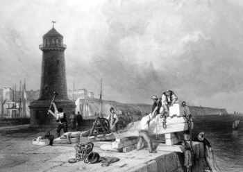 ANTIQUE PRINT: RAMSGATE.