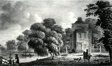 ANTIQUE PRINT: VIEW AT LONGFORD.