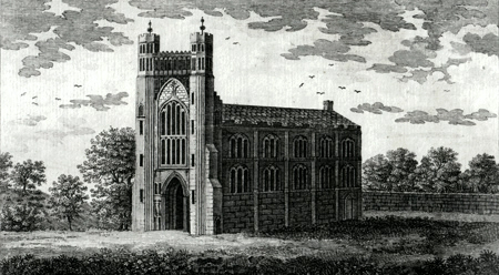 ANTIQUE PRINT: THORNEY ABBY IN CAMBRIDGE SHIRE.