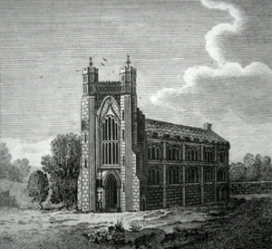 ANTIQUE PRINT: THORNEY ABBEY.