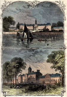 ANTIQUE PRINT: CHELSEA HOSPITAL.