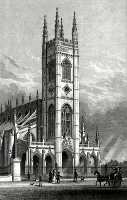 ANTIQUE PRINT: ST. LUKES CHURCH, CHELSEA.