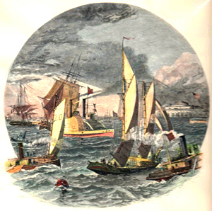 ANTIQUE PRINT: NEW-YORK BAY.