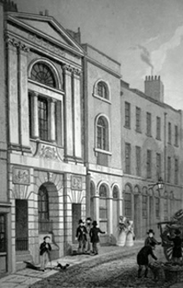 ANTIQUE PRINT: WATERMAN'S HALL, ST. MARY'S HILL.