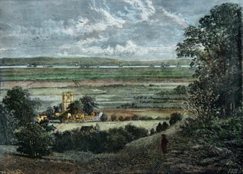 Antique print of Plumstead
