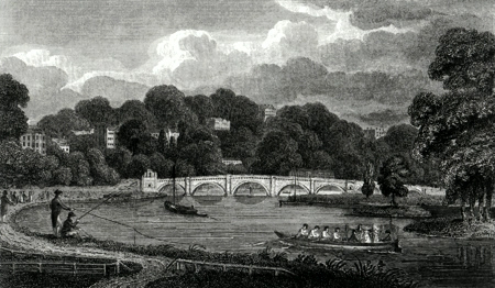 ANTIQUE PRINT: RICHMOND.