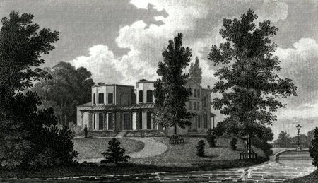 ANTIQUE PRINT: LORD NELSON'S VILLA AT MERTON.