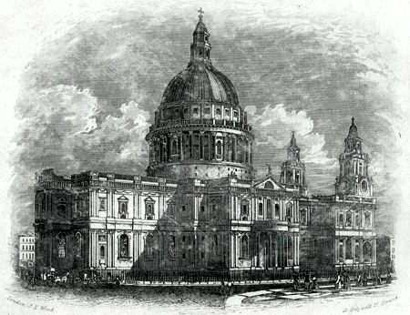 ANTIQUE PRINT: ST PAUL'S CATHEDRAL.