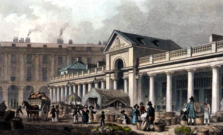 Antique print of Covent Garden