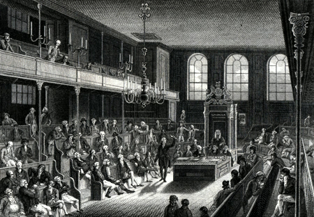 ANTIQUE PRINT: THE HOUSE OF COMMONS.