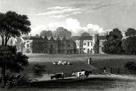 ANTIQUE PRINT: IRNHAM HALL, LINCOLNSHIRE.