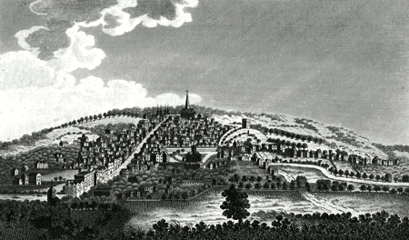 ANTIQUE PRINT: GUILDFORD.