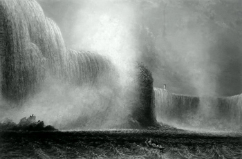 ANTIQUE PRINT: NIAGARA FALLS FROM THE FERRY.