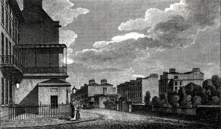 ANTIQUE PRINT: ENTRANCE TO LONDON BY OXFORD STREET.