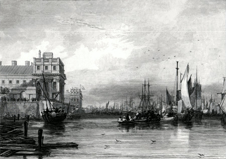 ANTIQUE PRINT: GREENWICH.