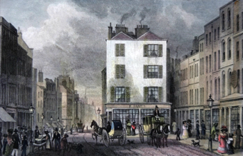 Antique print of High Holborn