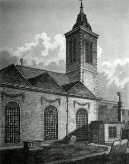 Antique print of St. Benet Paul's Wharf