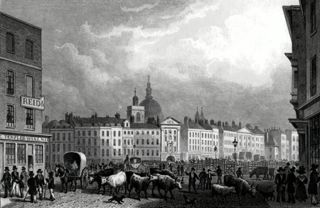 Antique print of Smithfield