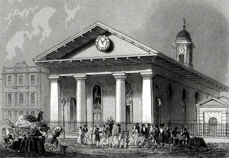 ANTIQUE PRINT: ST. PAUL'S, COVENT GARDEN.