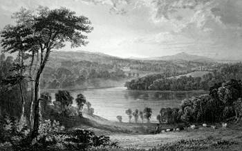 ANTIQUE PRINT: PENROSE, & LOOE-POOL, NEAR HELSTON, CORNWALL. THE SEAT OF J. ROGERS, ESQ. TO WHOM THIS PLATE IS RESPECTFULLY DEDICATED.